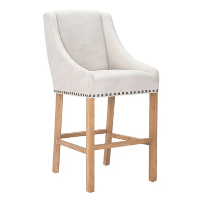 Zuo Modern Indio Bar Chair Beige (WC98613)