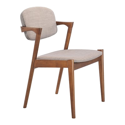 Zuo Modern Brickell Dining Chair Dove Gray (Set of 2) (WC100113)