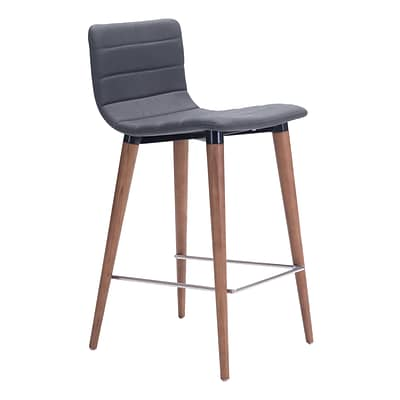 Zuo Modern Jericho Counter Chair Gray (Set of 2) (WC100272)
