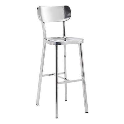 Zuo Modern Winter Bar Chair Stainless Steel (WC100303)