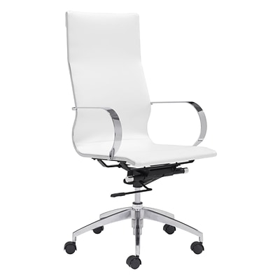 Zuo Modern Glider Hi Back Office Chair White (WC100372)