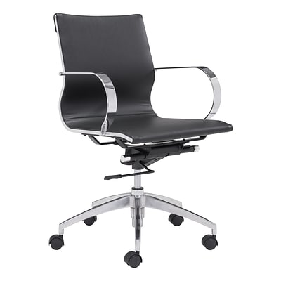 Zuo Modern Glider Low Back Office Chair Black (WC100374)