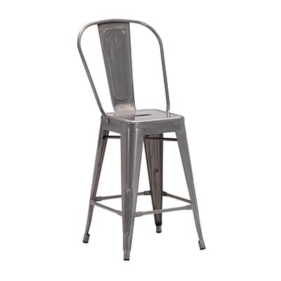 Zuo Modern Elio Counter Chair Gunmetal (Set of 2) (WC106121)