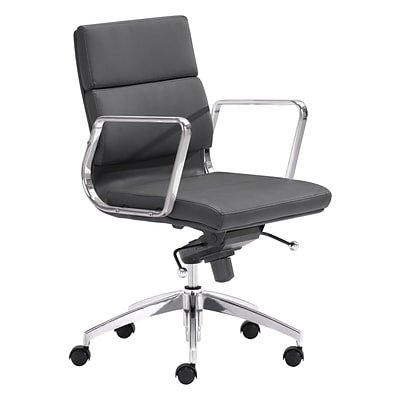 Zuo Modern Engineer Low Back Office Chair Black (WC205895)