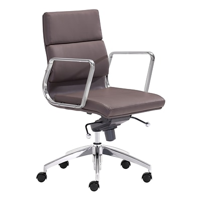 Zuo Modern Engineer Low Back Office Chair Espresso (WC205897)