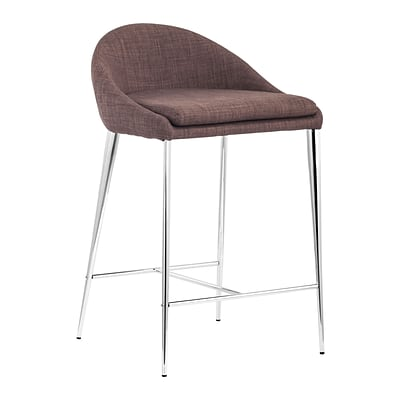 Zuo Modern Reykjavik Counter Chair Tobacco (Set of 2) (WC300332)