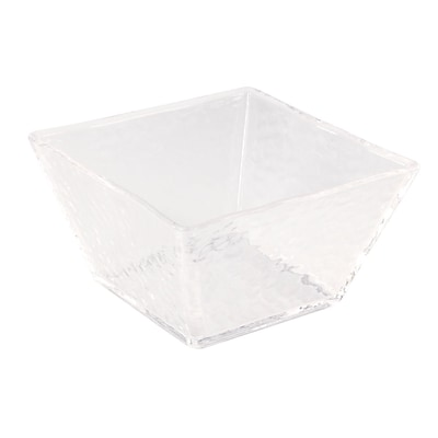 FFR Merchandising Rain Collection, Square Bowl, 5 inch W x 5 inch L x 2 7/8 inch H, (9922112535)