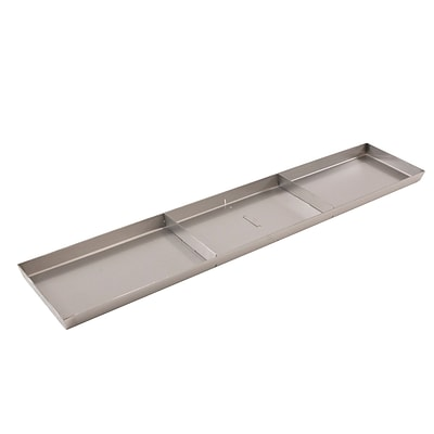FFR Merchandising Stainless Steel Pan, Drain Holes, 2 Dividers, 8 inch W x 30 inch L x 1 inch D, (9922510314)