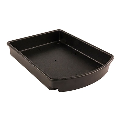 FFR Merchandising Curved Tray for Aluminum Direct Hook-In Shelves, 14 inch  Side/16 inch  Center Depth, (9922810004)