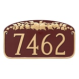 Montague Metal Products Ivy Leaf Address Plaque Sign; White/Black