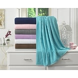 Berrnour Home Piano Bath Towel (Set of 2); Aqua Blue