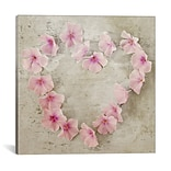 iCanvas Roseheart Pink Graphic Art on Wrapped Canvas; 12 H x 12 W x 1.5 D