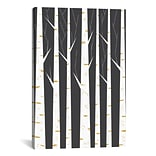 iCanvas Birch Forest by Flatowl Graphic Art on Wrapped Canvas; 60 H x 40 W x 1.5 D