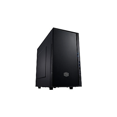 Cooler Master® Silencio 352 Mini-Tower System Cabinet, Midnight Black (SIL-352M-KKN1)