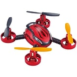 Odyssey Toys QR 12 6-Axis Radio Controlled Aircraft Toy Drone, 3.9 x 3.9 x 1, Red (ODY-1392)