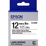 Epson® LK-4WBN LabelWorks™ 1/2 Standard LK Tape Cartridge