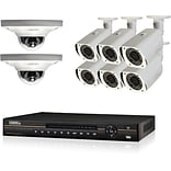 Q-See® QC838-8CV-3 Wired 8-Channel HD NVR with 8 x 3MP Dome Cameras, Network Video Recorder, 3TB, Bl
