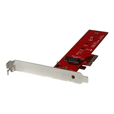 StarTech.com® x4 PCI Express to M.2 PCIe SSD Adapter, Red (PEX4M2E1)