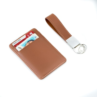 Bey-Berk Travel Wallet & Key Ring Set (BB504W)