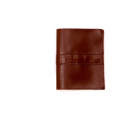 Bey-Berk Brown Leatherette Travel Pouch (BB699S)