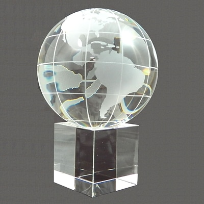 Bey-Berk Glass Globe with Base (R65W)