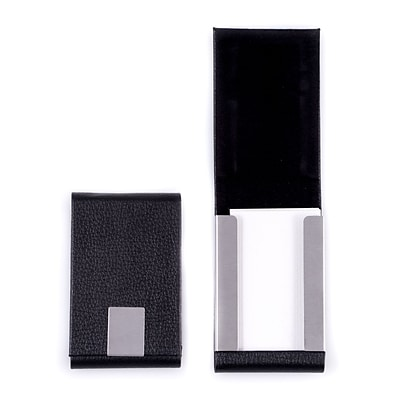 Bey-Berk Black Leather Business Card Case (D255B)