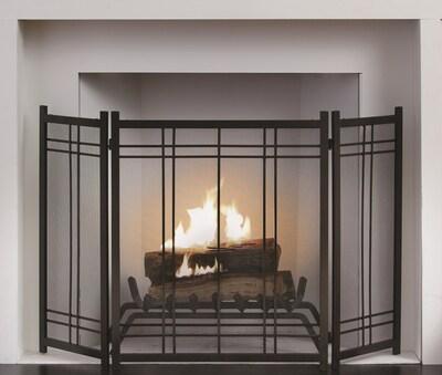 Pleasant Hearth Preston 3 Panel Steel Fireplace
