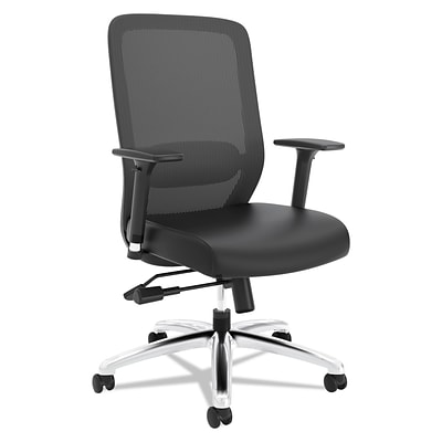 basyx by HON® Vl721 Series Mesh Executive Chair, Mesh Back, Softhread Leather seat, Black, NEXT2017 NEXTExpress