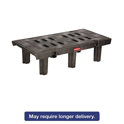 Rubbermaid® Commercial Dunnage Rack, 48 x 12, Black, Each (FG449000 BLACK)