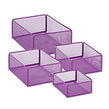 Honey Can Do eXcessory Metal Basket Set, Purple (BTS-06598)