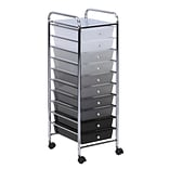 Honey Can Do 10-Drawer Rolling Cart, Gray Faded (CRT-05255)