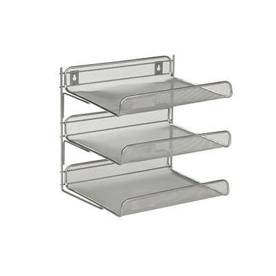 Honey Can Do 3 Tier Mesh Desk Organizer, Silver (OFC-03307)