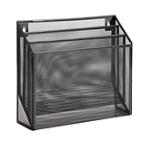 Honey-Can-Do 3-Compartment Wire Mesh File Organizer, Black (OFC-06208)