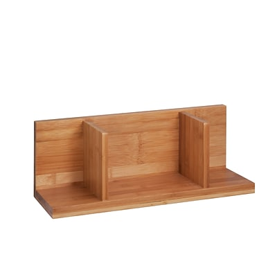 Honey Can Do Sectioned Wall Shelf, Natural (SHF-04402)