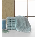 Berrnour Home Solomon Luxury Wash Cloth (Set of 16); Mint