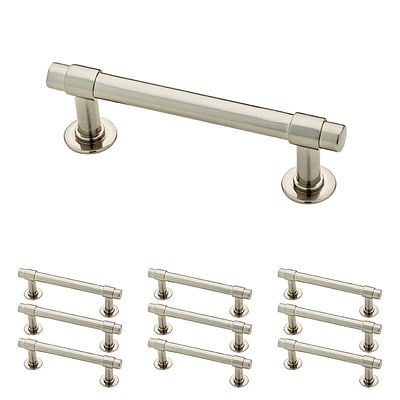 Franklin Brass Satin Nickel 3 Francisco Kitchen or Cabinet Hardware Drawer Handle Pull, 10 Pack (P29520K-SN-B)