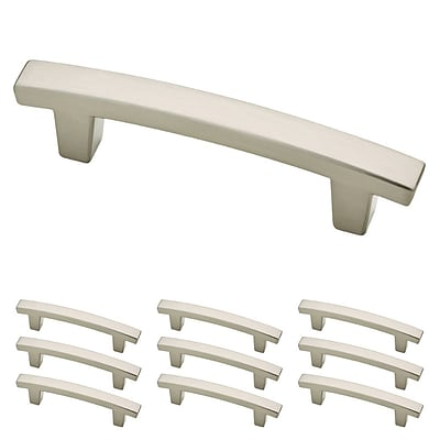 Franklin Brass Satin Nickel 3 Pierce Kitchen or Cabinet Hardware Drawer Handle Pull, 10 Pack (P29519K-SN-B)