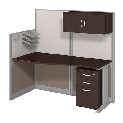 Bush Business Office in an Hour Collection 65x33 Straight Workstation w/Storage & Acc. Kit-Install