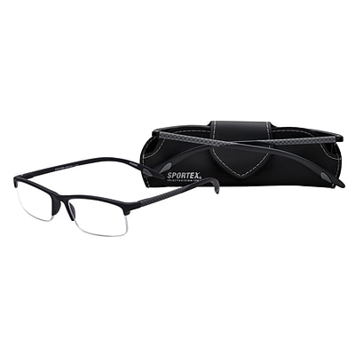 Select-A-Vision Sportex High Performance +1.50 Reading Glasses, Grey (EAR4150GY-150)