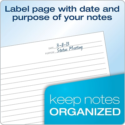 TOPS® FocusNotes Steno Pad, 6 x 9, Project Ruled, White, 80 Sheets (90222)