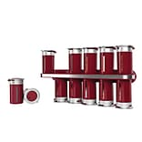 Honey Can Do KCH-06103 Magnetic Spice Rack W/12 Cnstrs-R/Slv