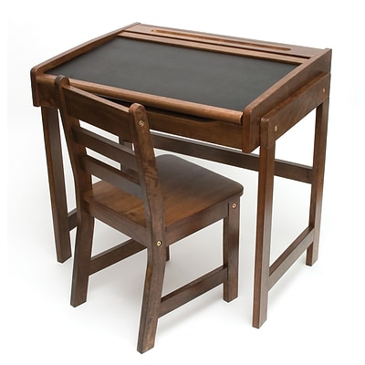 Lipper Childs Desk w/Chalkboard Top & Chair - Walnut (554WN)