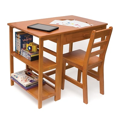 Lipper Childs Workstation/Desk - Pecan Finish