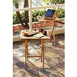 Lipper Bamboo Rectangular Snack Table Set of 2 (803-2)