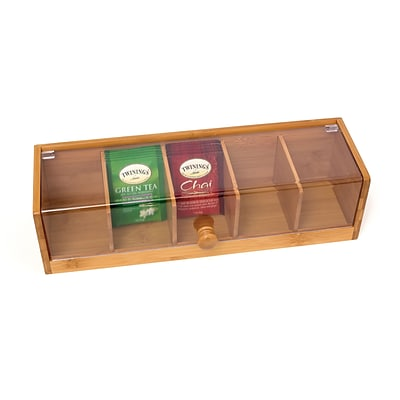Lipper Bamboo Tea Box with Acrylic Cover (8187)