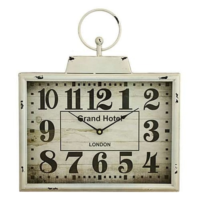 Aspire  Darcy Rectangular Wall Clock, White (ASPR548)