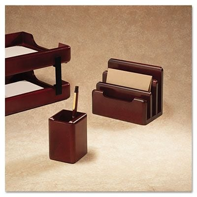 Rolodex  Wood Tones Pencil Cup, Mahogany, 3.13 x 3.13 x 4.5 (AZERTY14816)