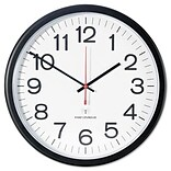 Universal  Indoor-Outdoor Clock, Atomic, 13.5 in., Black (AZERTY16033)