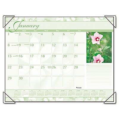 Visual Organizer DMD135-32 Recycled Antique Floral Desk Pad, 22 x 17(AZERTY9970)