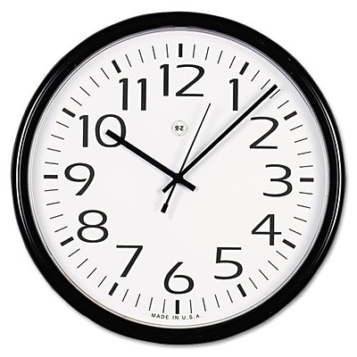 Universal Office Products  Round Wall Clock - Black, 12 in. (AZTY16067)